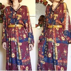 Nasty Gal Floral Midi Dress